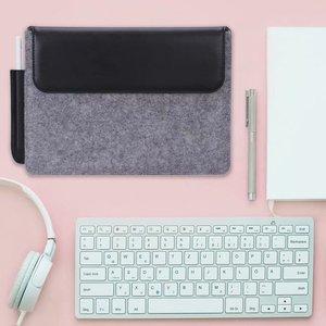"""Image 3 - Tablet kol çantası kılıf kılıfı için olağanüstü 10.3 e okuyucu moda çanta yün keçe kol çantası dikkat çekici 10.3 """"Funda + kalem"""