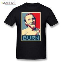 Burzum T-Shirt Varg Vikernes - BURN Basic T Shirt Casual T-Shirts Graphic Summer Men Short Sleeve 100 Cotton Top Tee Plus Size цена 2017