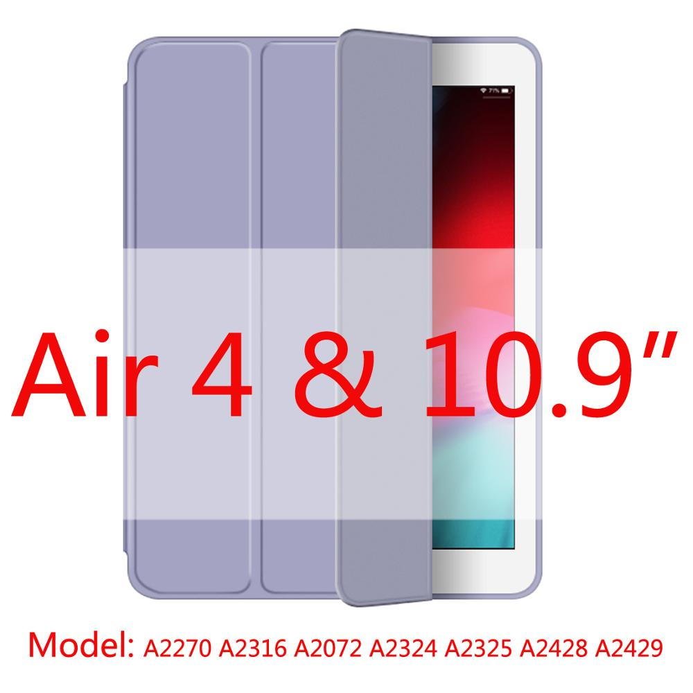 xy blue-Air4 Gray 2020 New Soft Silicone Case For ipad Air4 with Smart Sleep Wake Funda Capa Case for