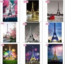 YIKEE diamond painting,frog,Eiffel Tower,diamond embroidery,5d,full,diamond painting cross stitch NEW TOOL