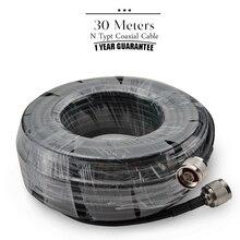 30 meter Koaxialkabel N Stecker Auf N Männlichen Für Handy Signal Booster Repeater Verstärker #25