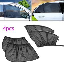 4 sztuk samochodów przód + tylna boczna pokrywa okna osłona przeciwsłoneczna UV warstwa ochronna słońce siatka zacieniająca Solar Mosquito pył akcesoria samochodowe