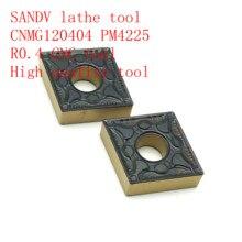 SANDV high quality lathe tool CNMG120404 PM4225 carbide tool, external turning R0.4 CNC finishing