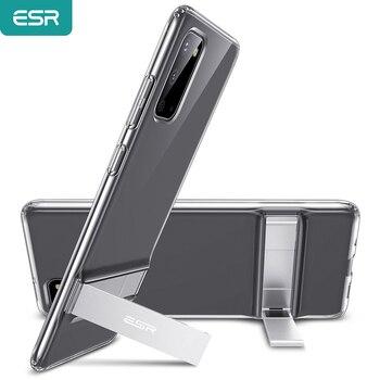 Etui ESR do Samsung Galaxy Note 20 20 Ultra/S20/S20 Plus/S20 Ultra/uwaga 10 +/uwaga 9/S10E/S10 Plus metalowa podpórka stały futerał