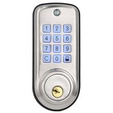 Дешевый умный дом цифровой дверной замок, водонепроницаемый Интеллектуальный без ключа пароль Pin код дверной замок электронный засов-замок