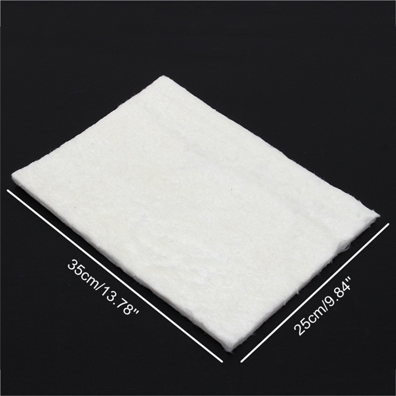 25x35cm 3/6/10mm Thickness Super Light Silica Aerogel Insulation Mat Lightest Solid Pad For Industrial Pipelines Storage Tanks