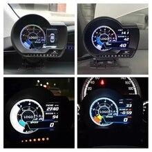 Angielska wersja Lufi XF OBD2 Plug digital Turbo Boost ciśnienie oleju wskaźniki temperatury Afr RPM prędkościomierz paliwa EXT wskaźnik oleju samochód