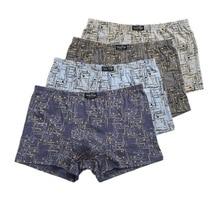 3/4 Pcs/Lot Men'S Underwear 6XL 110KG 100% Cotton Men's boxer pants Comfortable Loose fat guy printing  Underpants Boxers Shorts