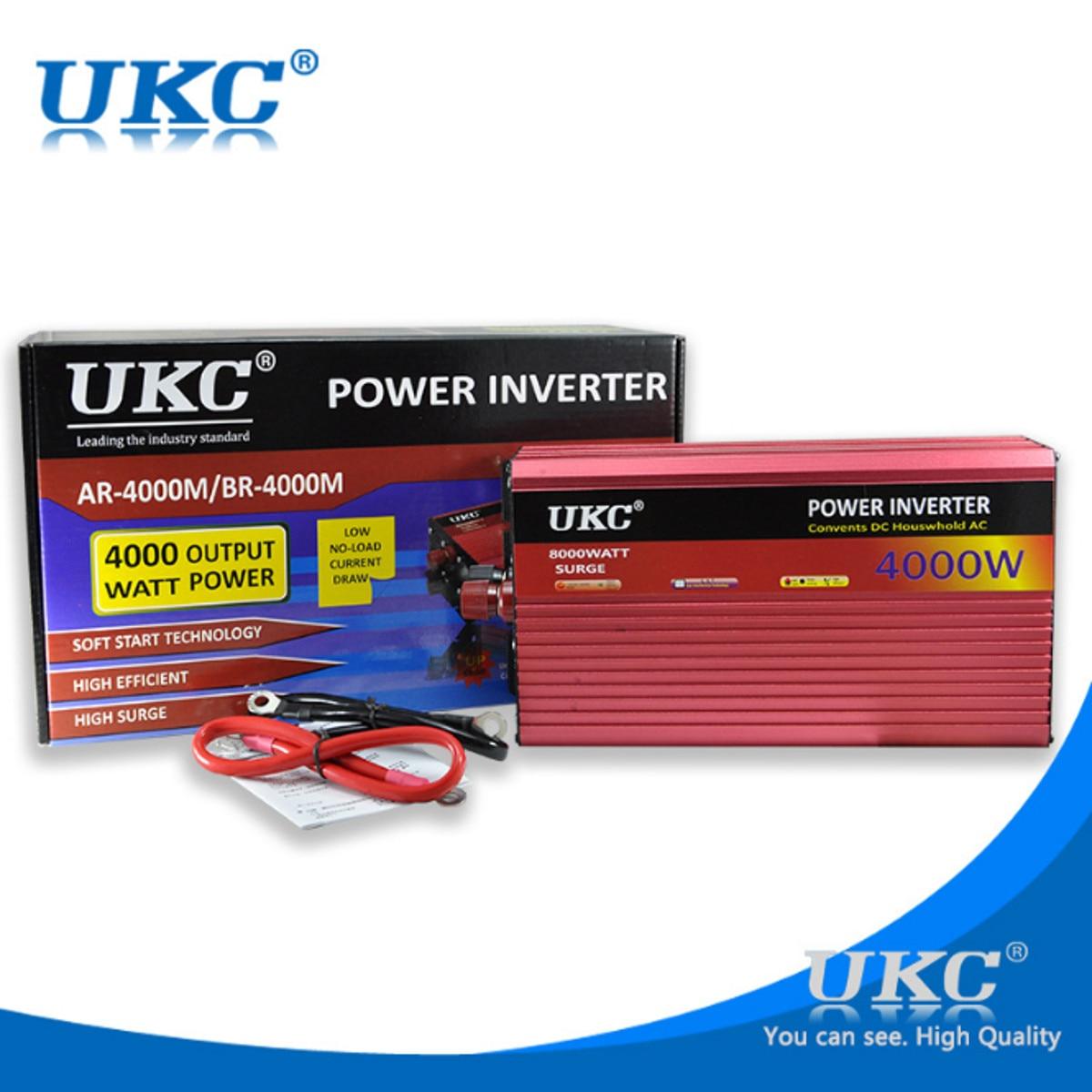4000W 8000W Pure Sine Wave Inverter DC12V/24V To AC220V 50HZ Power Converter Booster For Car Inverter Household DIY