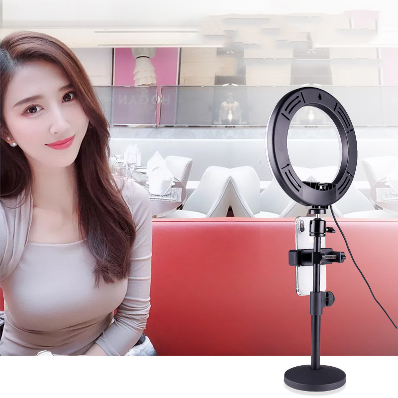 cheapest Selfie Video LED Ring Light Portable Photography Dimmable Ring Lamp with Tripod Phone Holder for iPhone xiaomi tiktok ringlight