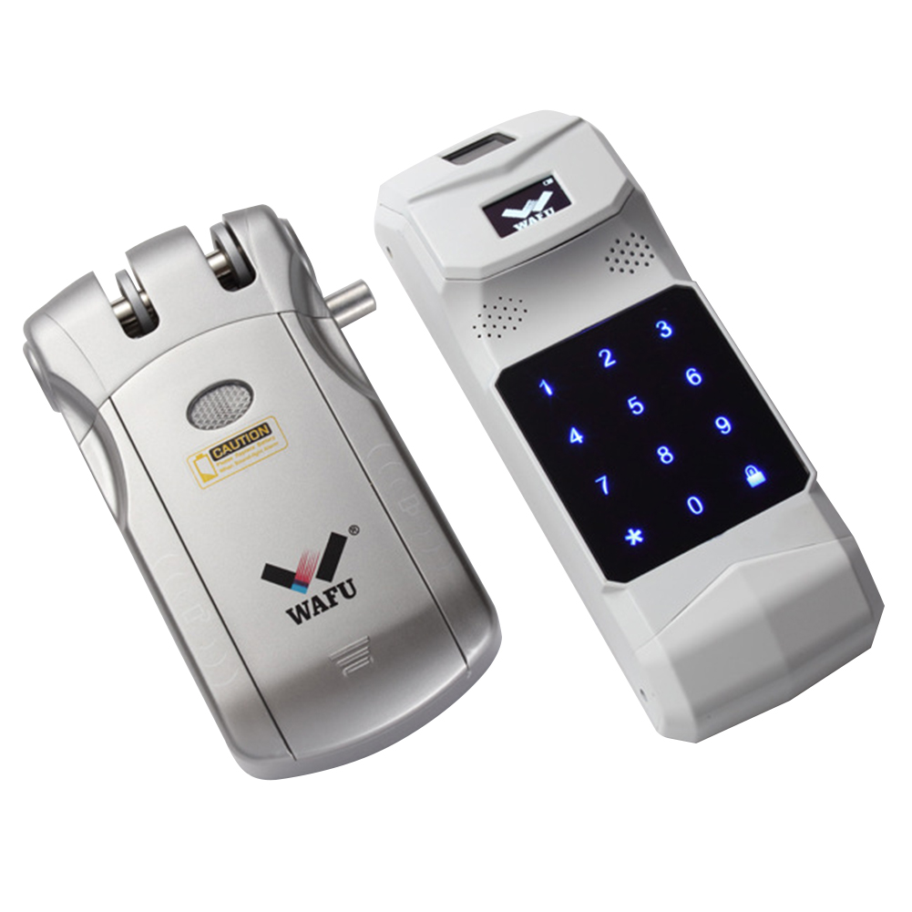 Remote Control Intelligent Mini Invisible Keyless Security Touch Electric Lock Stable Easy Install Wireless Home Door Zinc Alloy