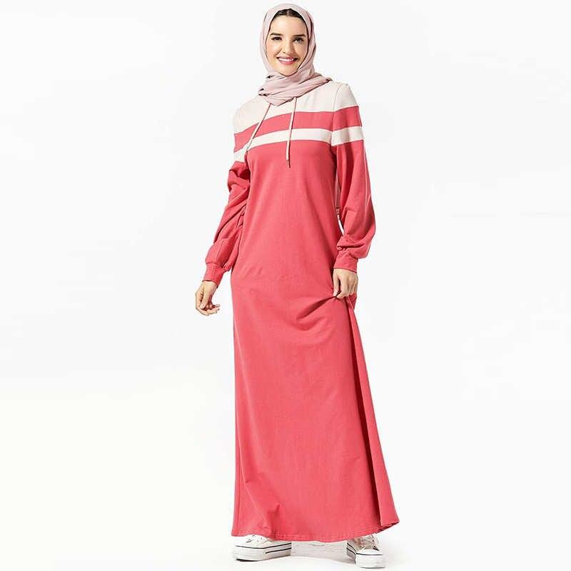 دبي عباية الحجاب الإسلامي فستان المرأة قفطان الملابس الإسلامية التركية الجلابة عباية فام Musulman Grote Maten Dames Kleding