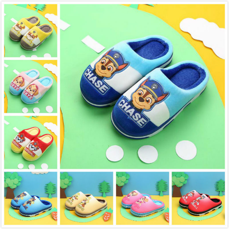 Hot Sale Genuine Paw Patrol Children's Shoe Baby Slippers Autumn Winter Puppy Patrol Dog Skye Marshall Rubble Kids Children Toy