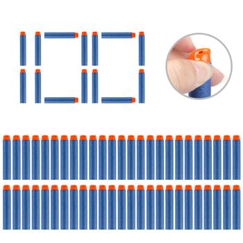 Miękkie strzałki z tworzywa EVA z pustą główką 7 2 cm 100 sztuk zapasowe pociski do zabawek akcesoria do pistoletu nerf tanie i dobre opinie BIYING TOYS CN (pochodzenie) can not eat Unisex 5-7 lat 8-11 lat 14 lat Certyfikat U02601200910006E Akcesoria do karabinów zabawkowych