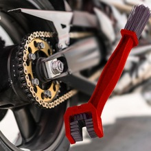 Accesorios para el coche rojo Universal Rim Care limpiador de neumático motocicleta bicicleta Cadena de engranajes limpiador de mantenimiento cepillo de suciedad Herramientas de limpieza