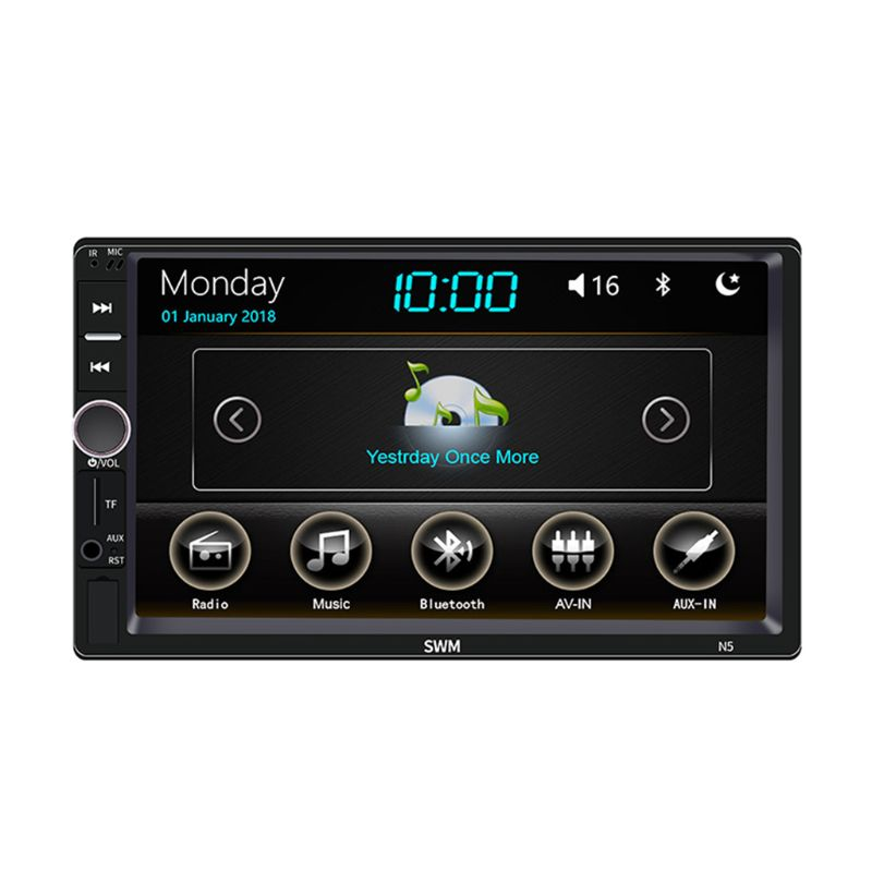 1Set Car Multimedia MP5 Player Entertainment Video Audio Stereo Radio USB FM HD Touch Screen Digital Display Bluetooth Autoradio
