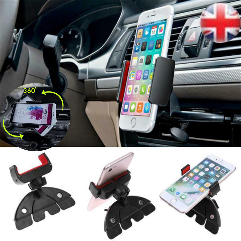 Versatile phone holder 360 degree Rotating In Car Auto CD Slot Mount Cradle Holder Stand with foam insert For Mobile Phone GPS