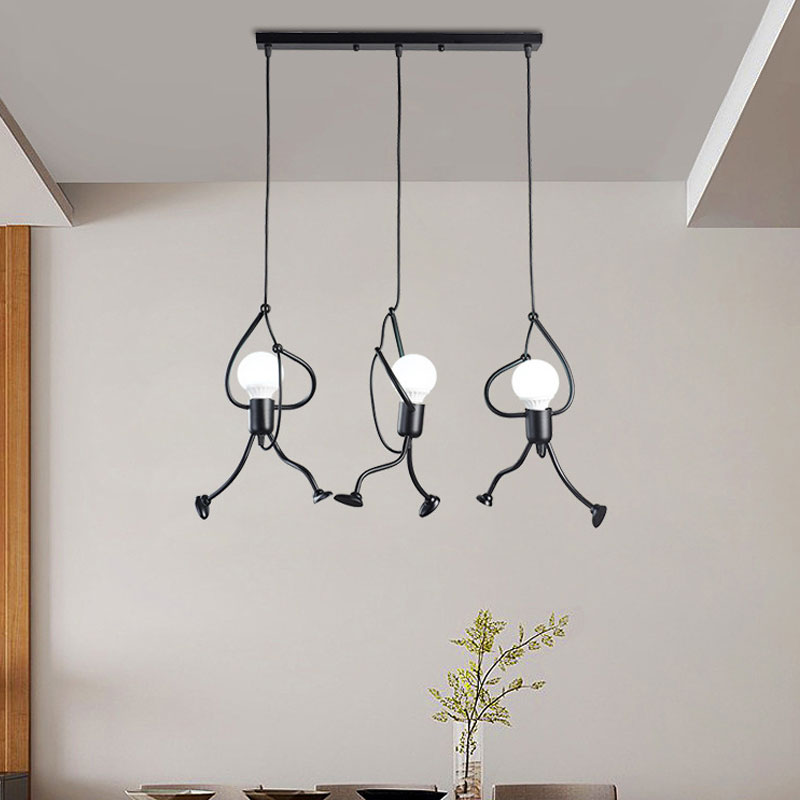 Creative Little Man Climbing Pendant Lights Modern Metal Led Hanging Lamp Kitchen Bedroom Dining Room Light Fixtures Home Decor