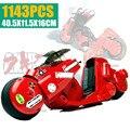 New MOC SERIES The Citizen Akira Moto Fit Lepinings Technic City Motobike строительные блоки кирпичи детский подарок Diy игрушки для детей