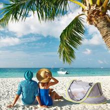 Baby Beach Tent Children Toy Tent UPF50+ Camping Beach Tents Bed Fold Outdoor Swim UV-protecting Sunshelter Child Small House