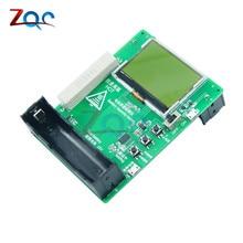 12864 LCD Display Dual 18650 Lithium Battery Capacity Tester 4 Digit LED Tube Dual 18650 Battery Capacity Monitor for Power Bank