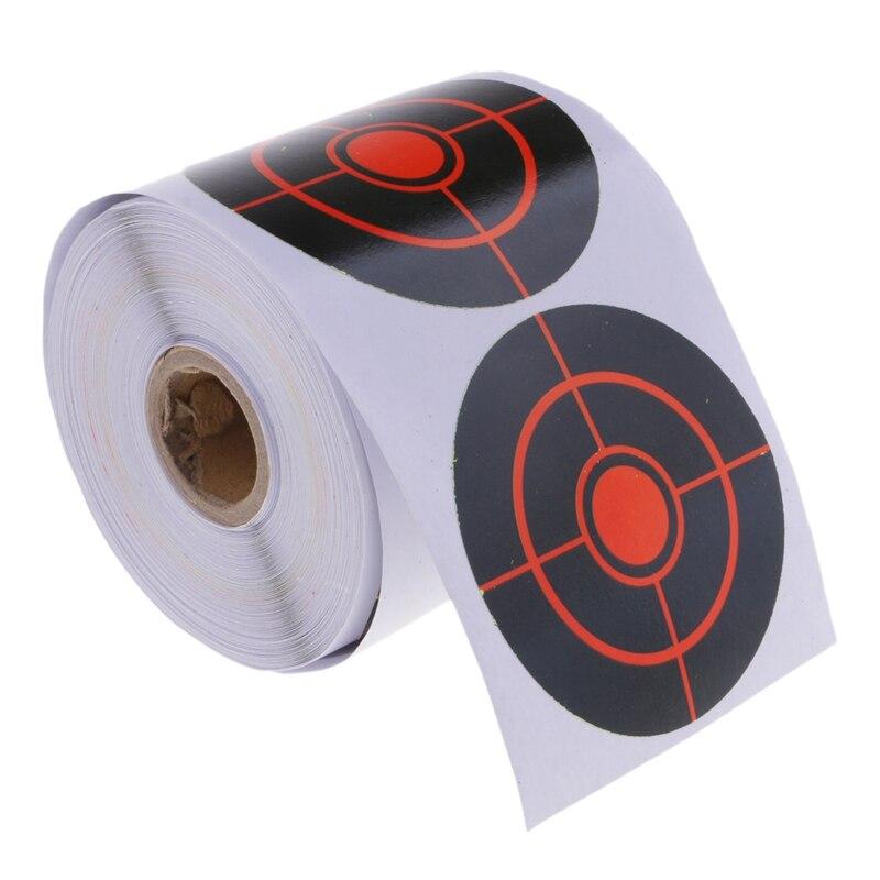 ELOS-250Pcs Roll Adhesive Target Diameter 7.5 Cm Splatter Target Stickers Set For Outdoor And Indoor Sport