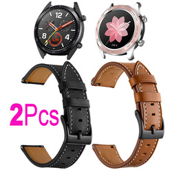 Leather Strap For Huawei Watch GT 2 2E 46mm/Pro Honor Magic 2 42mm Dream Bracelet Watchband 20mm/22mm Replacement Wristband