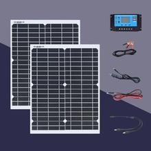 Boguang solar panel 20W 18V kit 100W / h on the first day 40w panel solar kit with Controller 200w / h for 5v 12v 24v battery