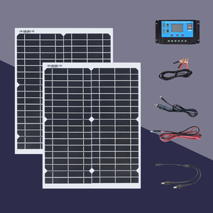 Boguang solar panel 20W 18V kit 100W / h on the first day 40w panel solar kit with Controller 200w / h for 5v 12v 24v battery