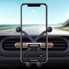 Gravity Car Holder For Phone in Car Air Vent Clip Mount No Magnetic Mobile Phone Holder Stand for iPhone 11 GPS car accessories universal gravity air vent mount gps stand car phone holder bracket supplies gravity car holder for phone in car air vent clip m