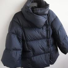 Black short women's plus size down jacket
