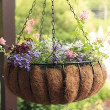 Half Round Flower Pot Natural Coconut Cocoa Fiber Liner Half Circle For Wall Hanging Baskets For Home Garden Wedding Decor amanda flower criminally cocoa