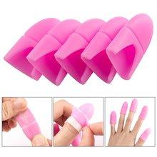 10 шт силиконовых кейсов для ногтей искусство впитывающийся