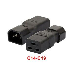 Image 2 - PDU PSU APC UPS IEC C14 ذكر إلى C19 قابس مهايئ غرفة الحاسب خادم تحويل الطاقة وعاء محول تحويل مقبس التوصيل