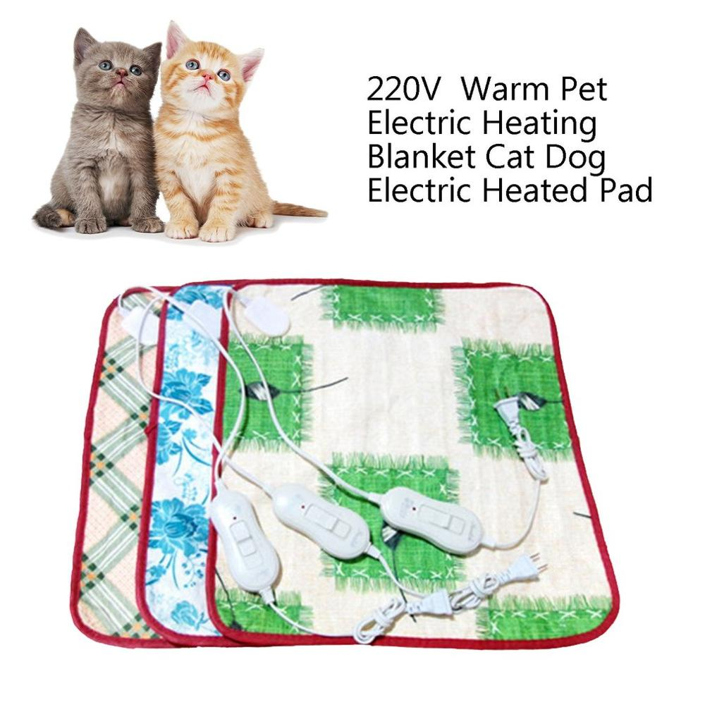 220V Pet Electric Heating Blanket Cat Electric Heated Pad Anti-scratch Dog Heating Mat Sleeping Bed For Autumn Winter