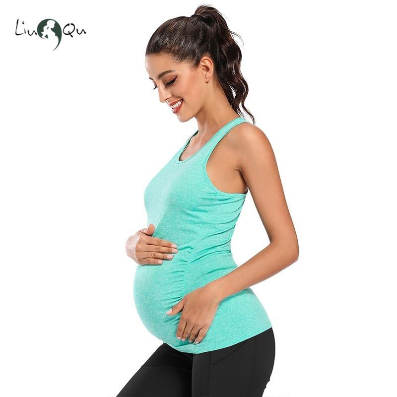 Lamaze Maternity Womens Maternity Acitve Yoga Racerback Camisole Tank Maternity Shirt