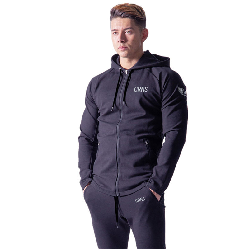 Autumn Men Gyms Hoodies Gyms Fitness Bodybuilding Sweatshirt Pullover Sportswear Male Workout Hooded Jacket Clothing