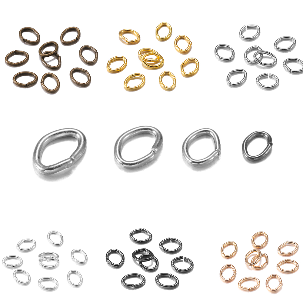 300pcs/lot 7*5mm Oval Split Ring Jump Rings Connector Open Metal Rings Link Loops For Bracelet Necklace Accessories Jewelry DIY