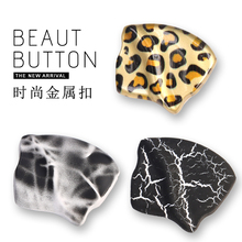 Leopard Sewing Metal Buttons Decorative for Clothing Crafts Jeans Overcoat Jacket Button Black Gold Large 20mm 30mm Needlework high grade metal gold silver imitation pearl buttons jacket shirt metal buttons sweater coat overcoat button