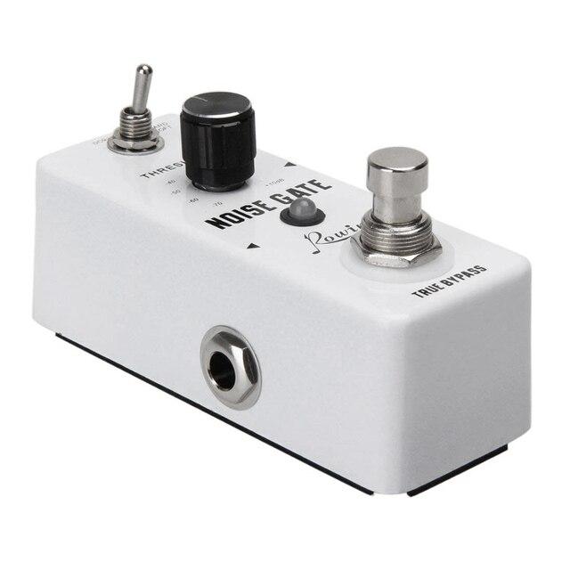 Rowin шумоподавление, подавление шума, педаль гитарного эффекта, 2 режима, настоящий байпас, алюминиевый сплав, металлический корпус для гитары, аксессуары