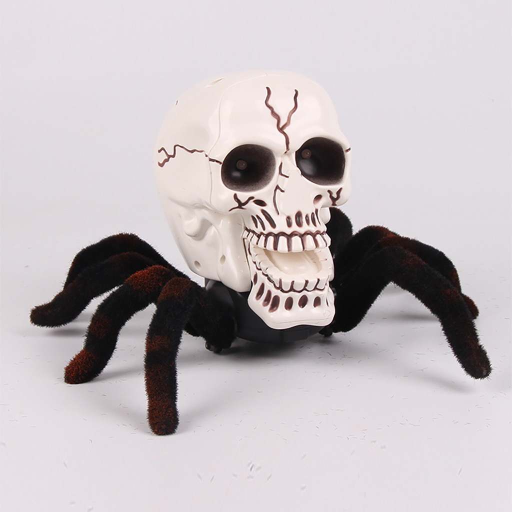 New Baby Halloween Toy Spider Scary Animals Realistic Remote Control Spider Animal Remote Control Halloween Horror Toy