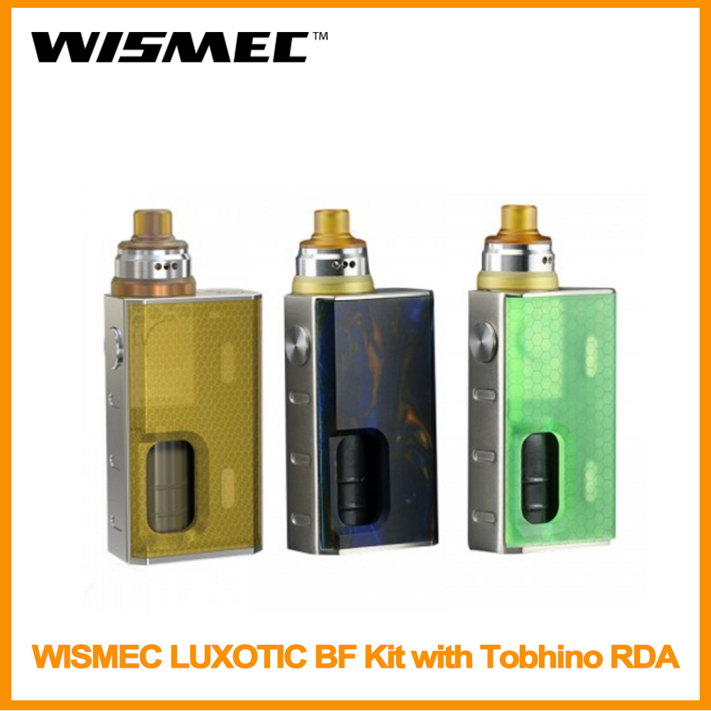 Clearance Original WISMEC LUXOTIC BF Kit With Tobhino RDA 7.5ml Output 100W With 810 Top Cap DIY Clapton Coil E-Cig