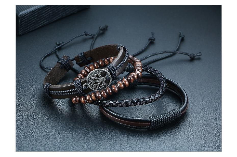 Braided Wrap Leather Vintage Bracelets for Men H675a24c246534481b28e26b836dd28c3e