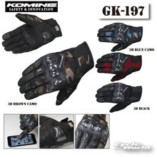 GK-197 motorcycle gloves guantes moto touch screen breathable carbon fiber hard shell anti-fall riding gloves(China)