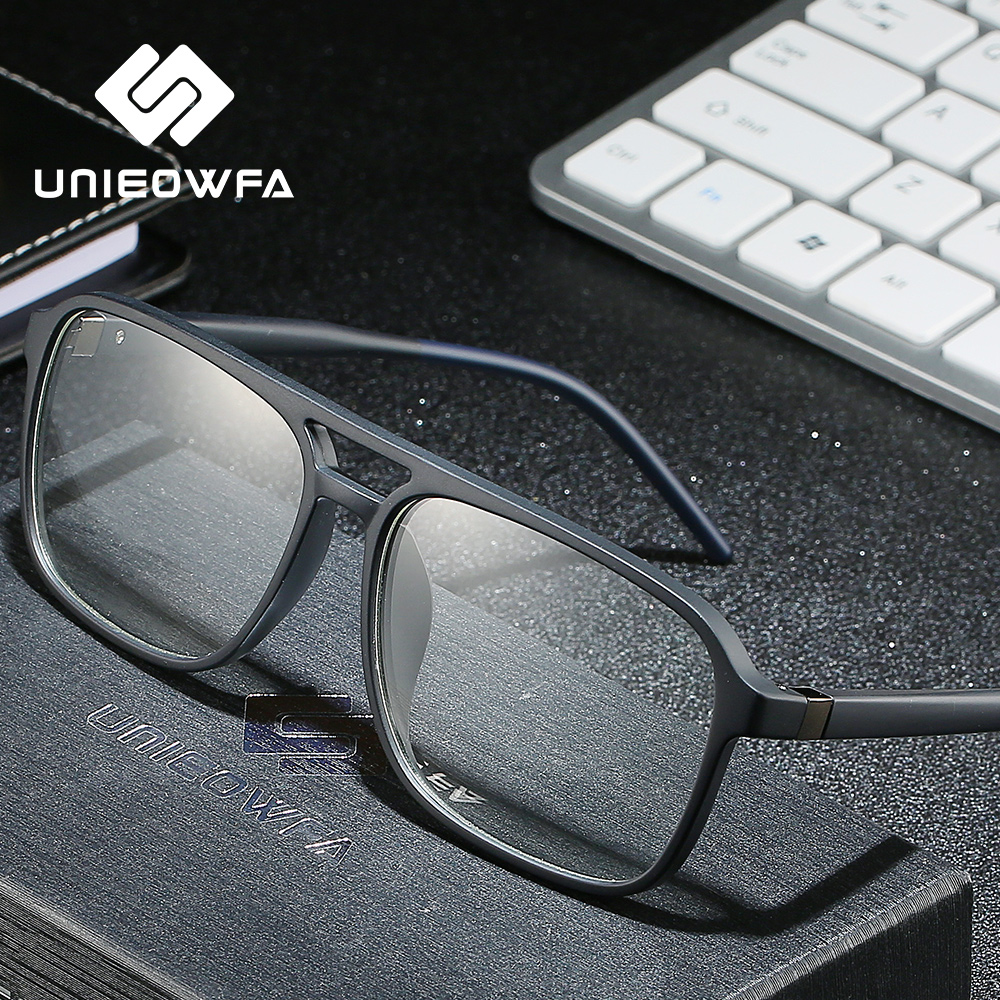 Anti Blue Light Computer Glasses For Men Frame Optical Prescription Eyeglasses Frame Myopia Clear Degree TR90 Spectacles Frame