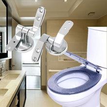 Ensemble de charnières de siège de toilette de remplacement, en alliage de Zinc, facile à installer, antioxydant, Anti-corrosion, écrous de fixation solides, lavage Ample, 1 paire
