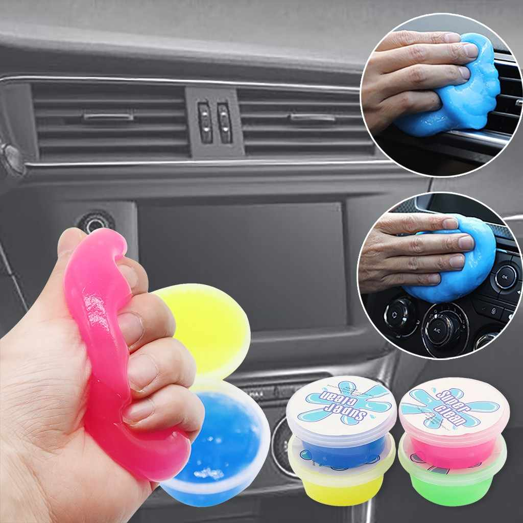 60 Ml Super Auto Mobil Cleaning Pad Lem Bubuk Cleaner Magic Cleaner Debu Remover Gel Komputer Rumah Keyboard Bersih Alat 1119