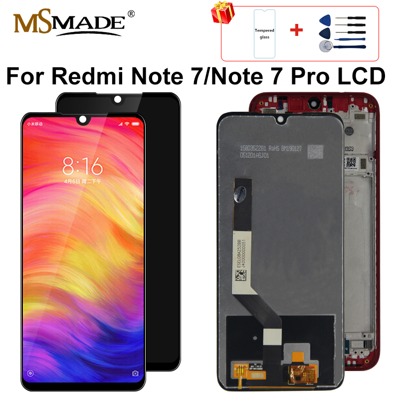 Original For Xiaomi <font><b>Redmi</b></font> <font><b>Note</b></font> 7 <font><b>LCD</b></font> Display Screen Touch Digitizer Assembly for <font><b>redmi</b></font> Note7 <font><b>Pro</b></font> <font><b>LCD</b></font> 10 Touch Repair Parts image