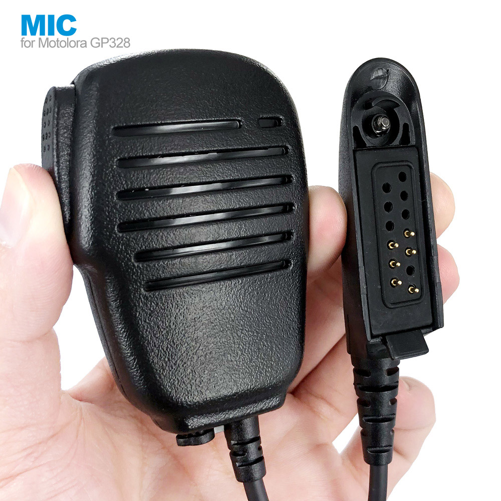 Water Resistant Speaker Mic PTT Microphone For Motorola GP328 Walkie Talkie Two Way Radio PRO5150 GP338 PG380 GP680 HT750 GP340