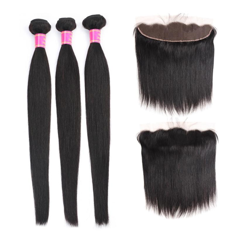 Meetu Straight Hair Bundles With Frontal Malaysian Hair Bundles With Closure Frontal Human Hair Bundles With Frontal Non Remy